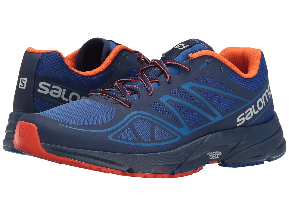 Salomon - Sonic Aero (Surf The Web/Blue Depths/Flame) Men's Shoes