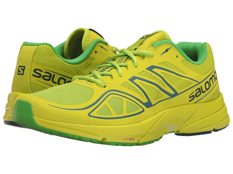 Salomon - Sonic Aero (Lime Green/Lime Punch/Classic Green) Men's Shoes
