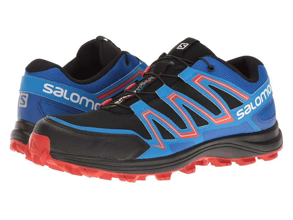 Salomon - Speedtrak (Black/Blue Yonder/Lava Orange) Men's Shoes