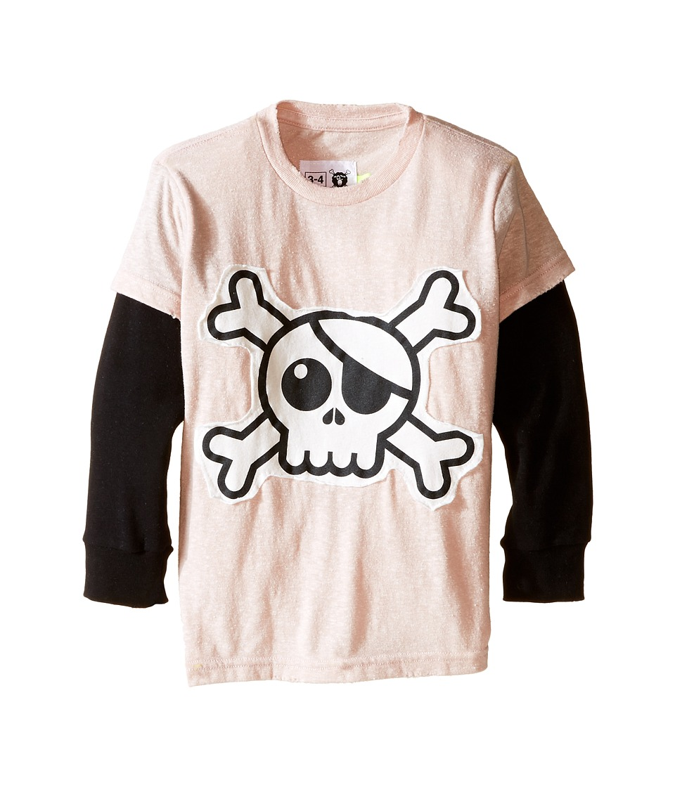 Nununu - Super Soft Skull Patch T-Shirt (Infant/Toddler/Little Kids) (Powder Pink) Girl's T Shirt