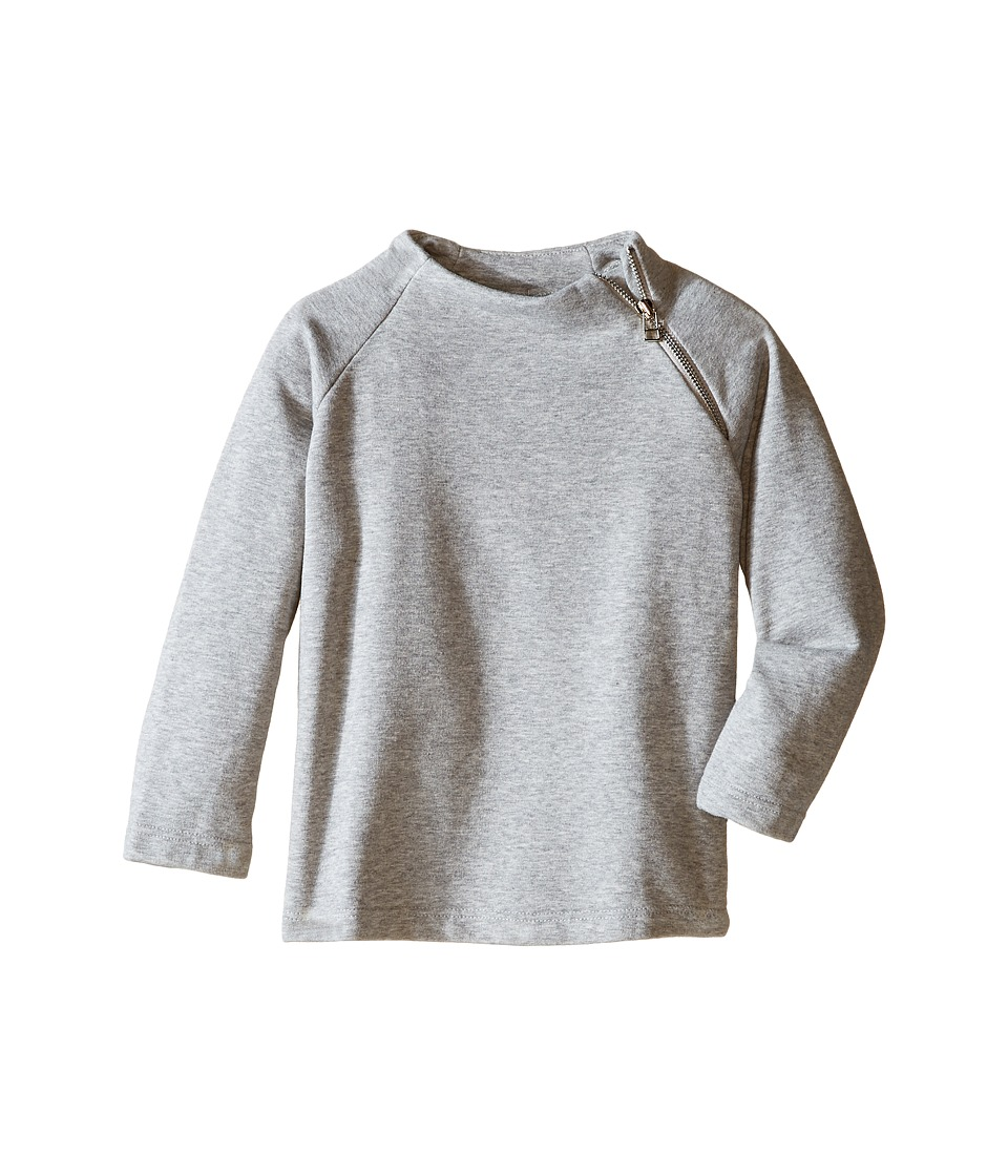 Nununu - Side Zip Extra Soft Pullover Sweatshirt (Toddler/Little Kids) (Heather Grey) Kid's Sweatshirt