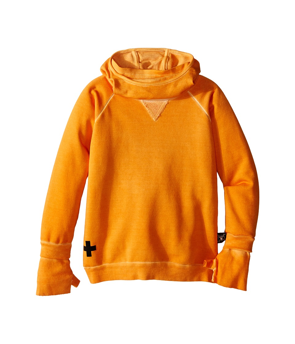Nununu - Soft and Stealth Ninja Sweatshirt with Hood (Infant/Toddler/Little Kids) (Dyed Tangerine) Kid's Sweatshirt