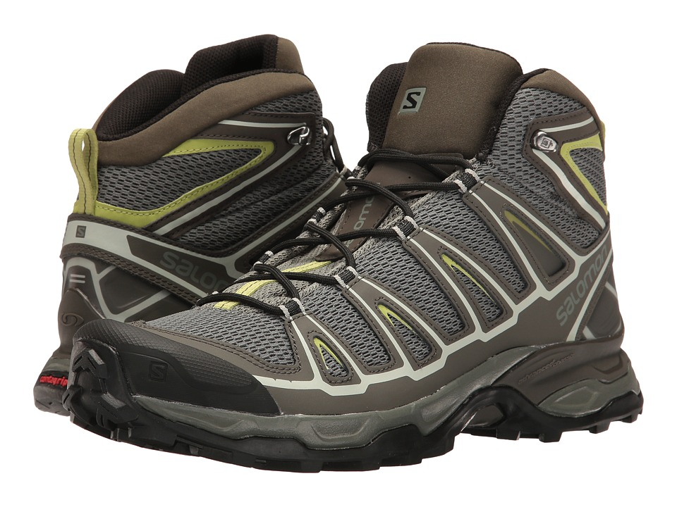 Salomon - X Ultra Mid Aero (Castor Gray/Beluga/Fern) Men's Shoes