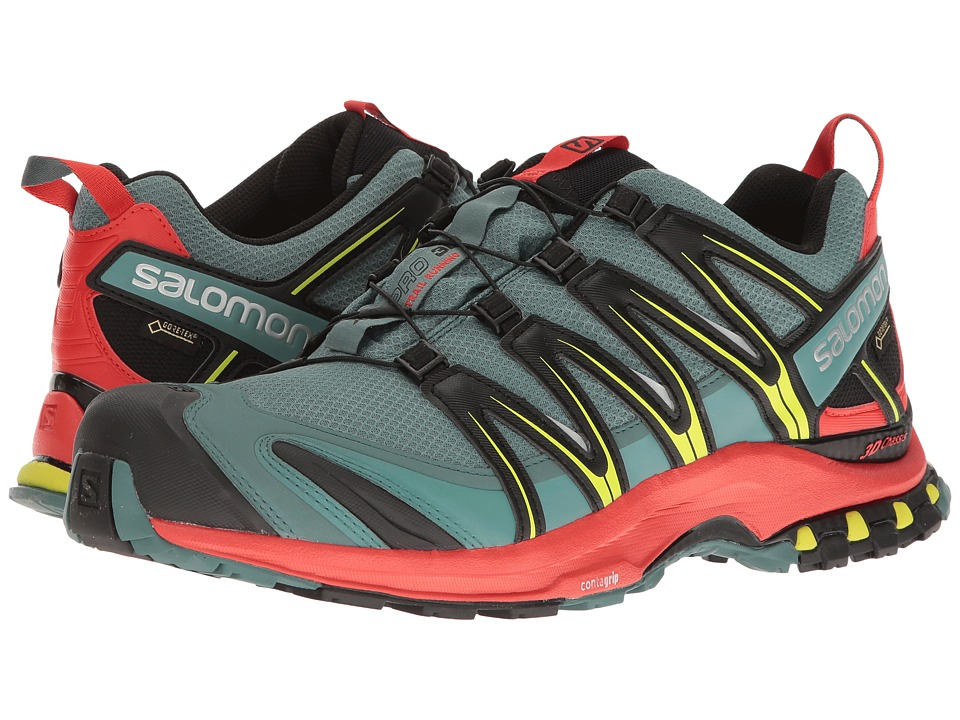 Salomon - XA Pro 3D GTX (North Atlantic/Fiery Red/Black) Men's Shoes