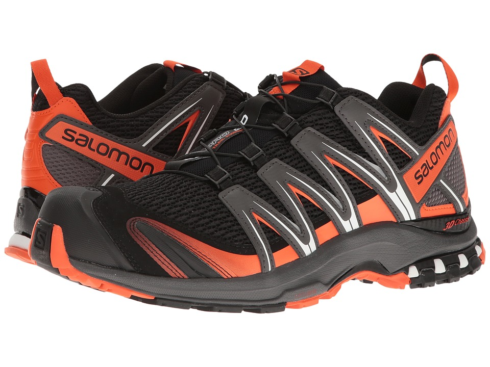 Salomon - XA Pro 3D (Black/Dark Cloud/Tomato Red) Men's Shoes