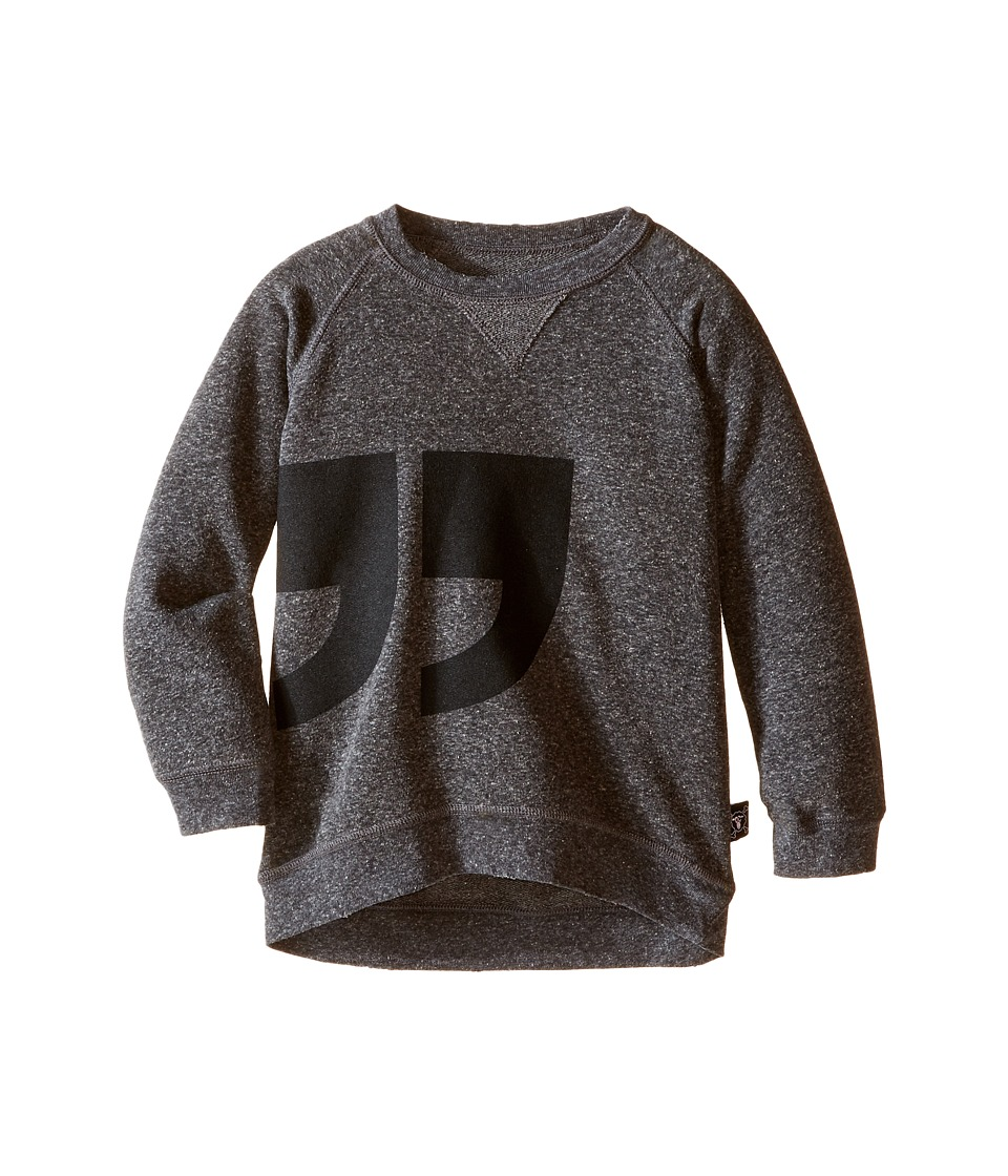 Nununu - Super Soft Quotation Pullover (Infant/Toddler/Little Kids) (Charcoal) Kid's Clothing