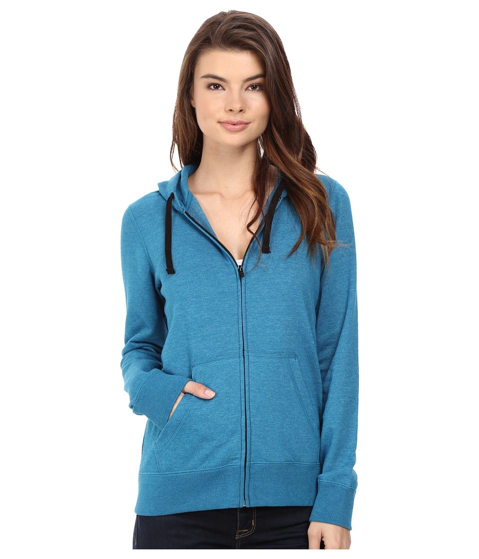 Hurley - Staple Icon Fleece Zip Hoodie (Heather Green Abyss) Women's Fleece
