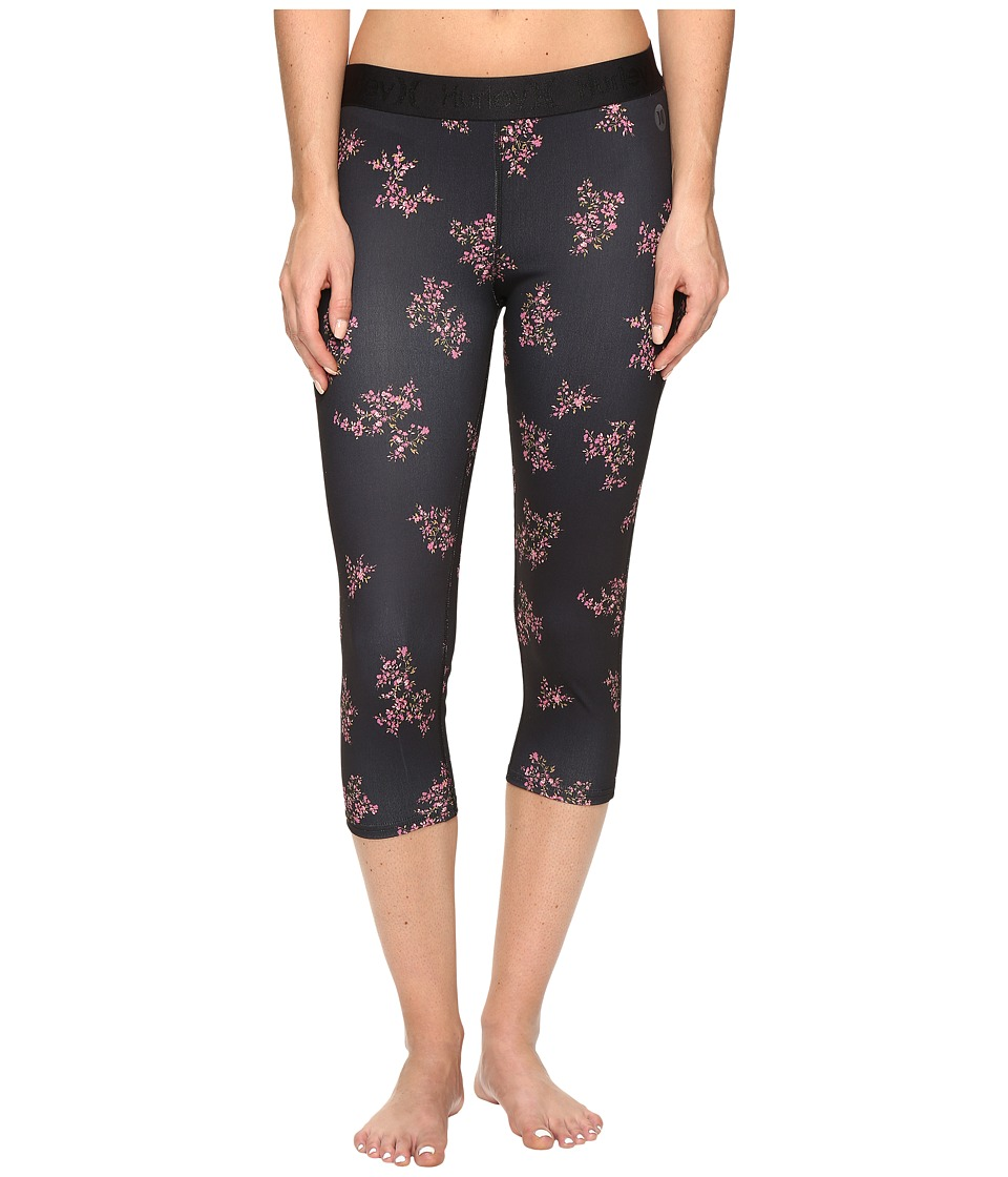 Hurley - Dri-Fit Crop Leggings (Black B) Women's Workout