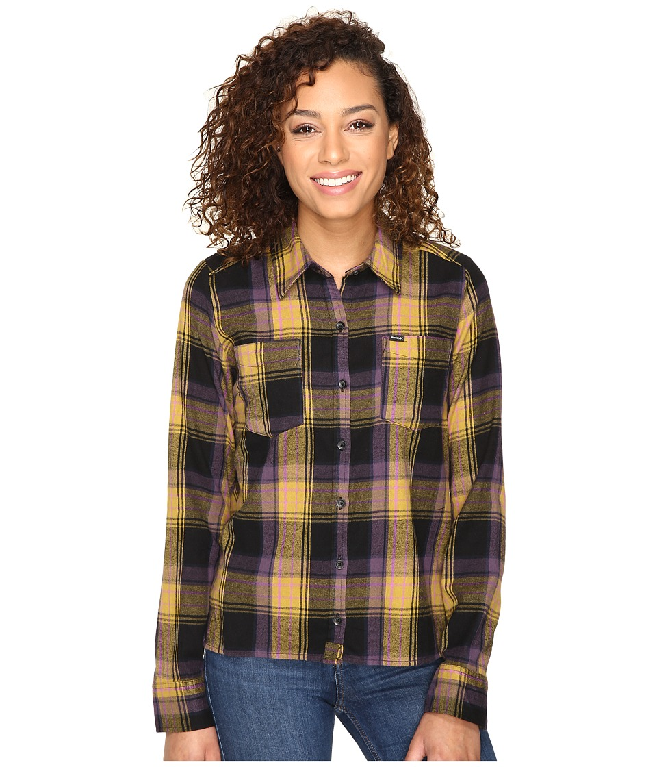 Hurley - Wilson Long Sleeve Top (Peat Moss P) Women's Long Sleeve Button Up