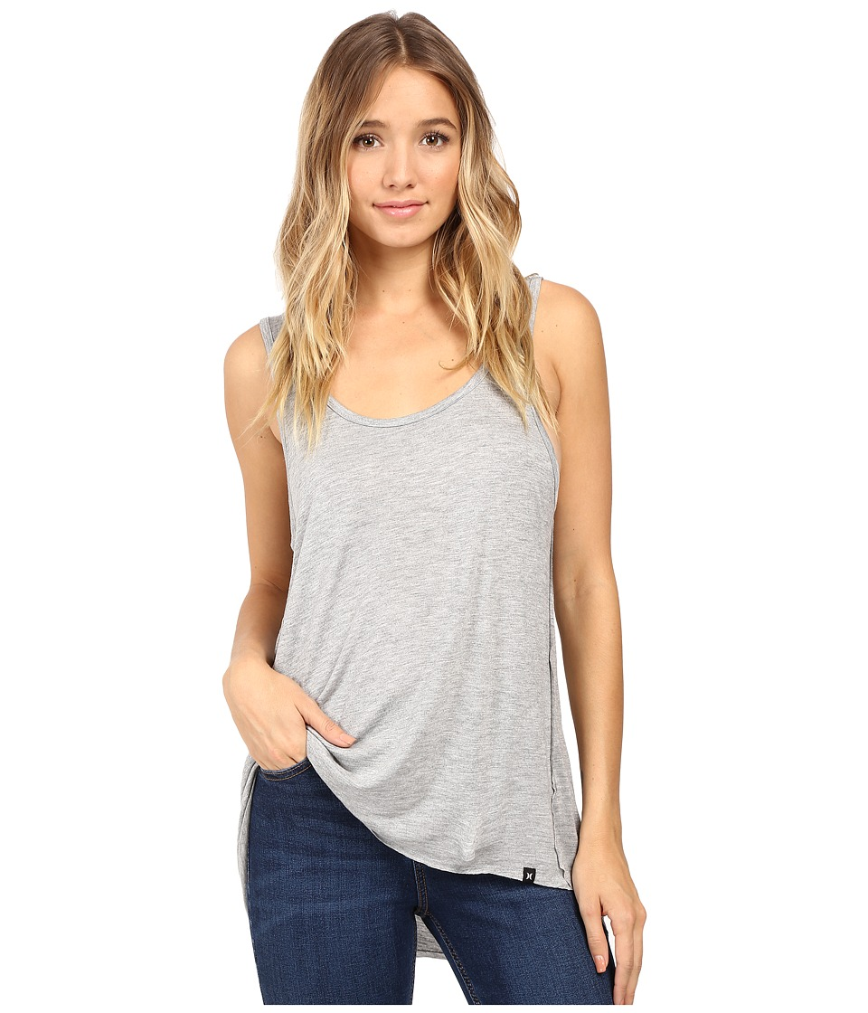 Hurley - Staple Sessions Tank Top (Light Heather Grey) Women's Sleeveless