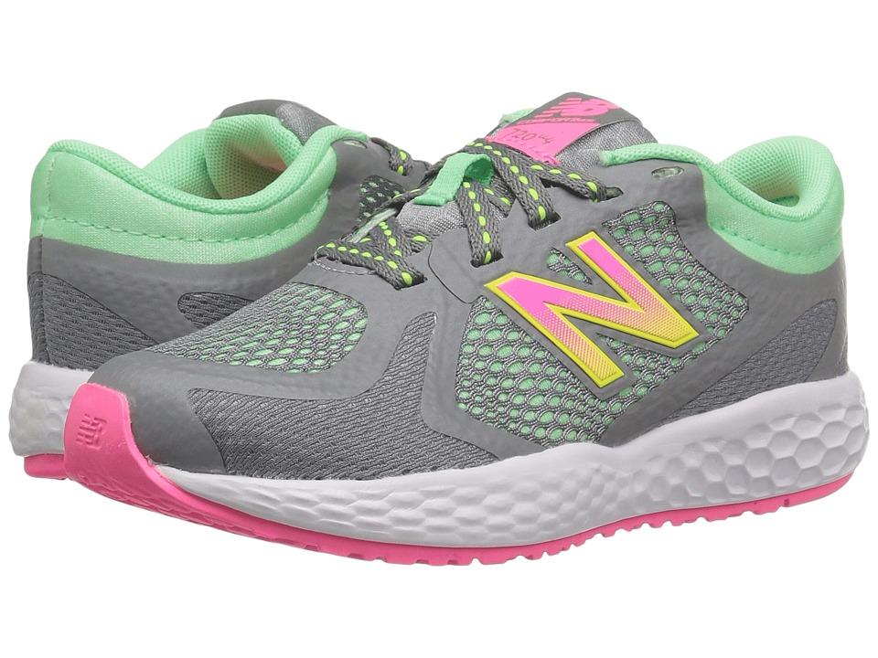 New Balance Kids KJ720v4 (Little Kid/Big Kid) (Grey/Pink) Girls Shoes