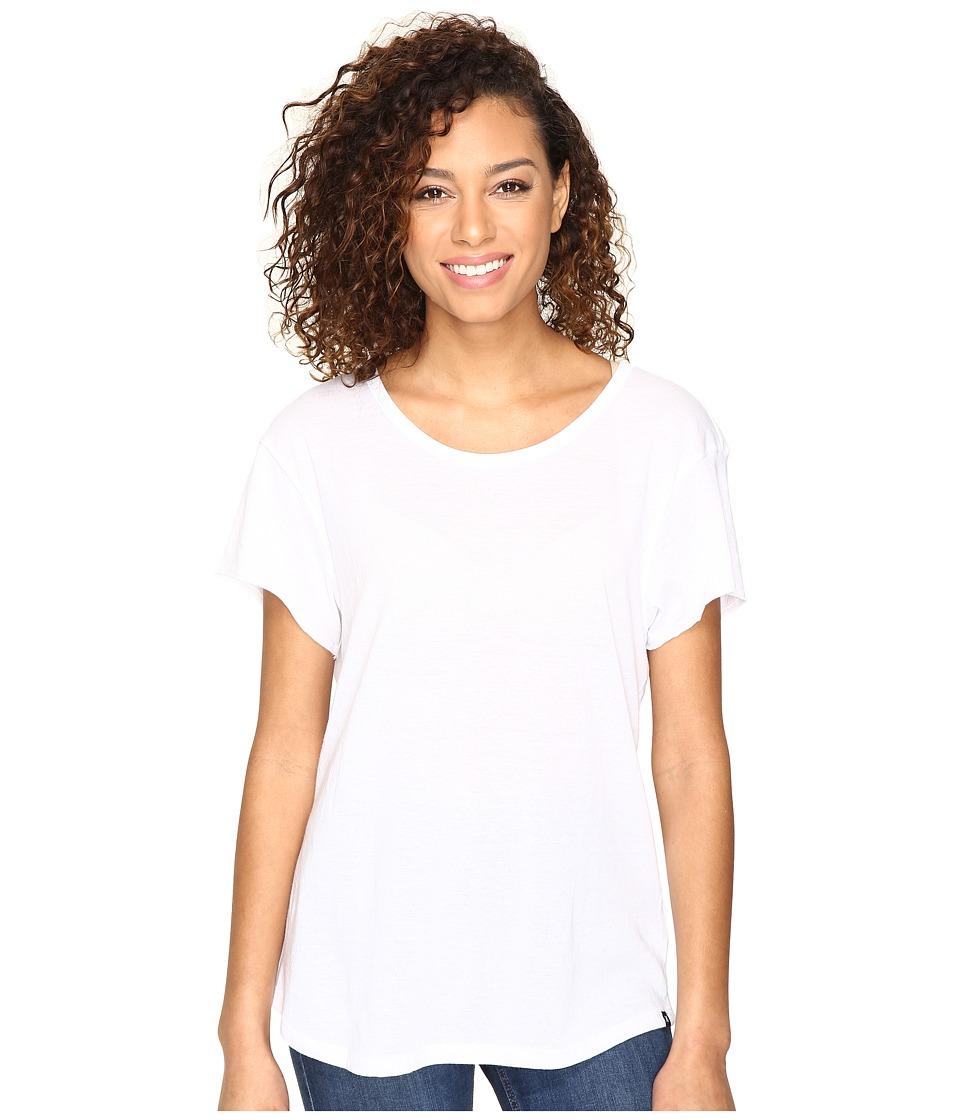Hurley - Staple Easy Crew Tee (White) Women's Clothing
