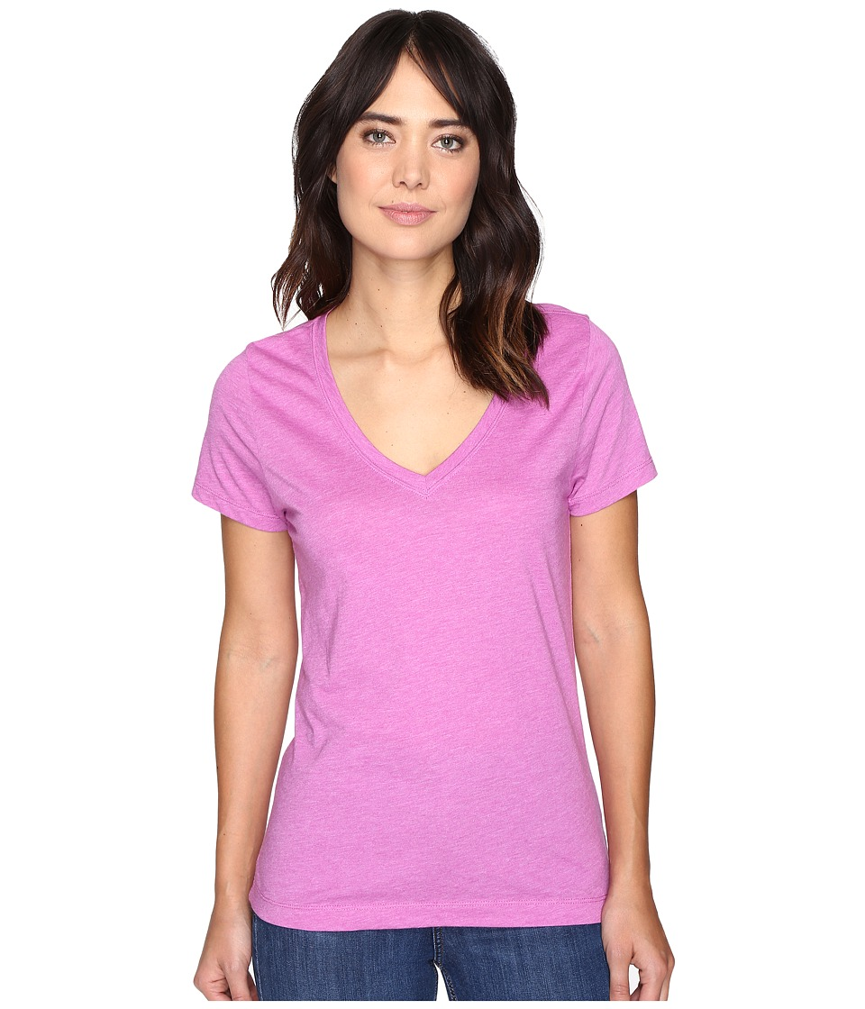 Hurley - Staple Perfect V-Neck Tee (Heather Viola) Women's Clothing