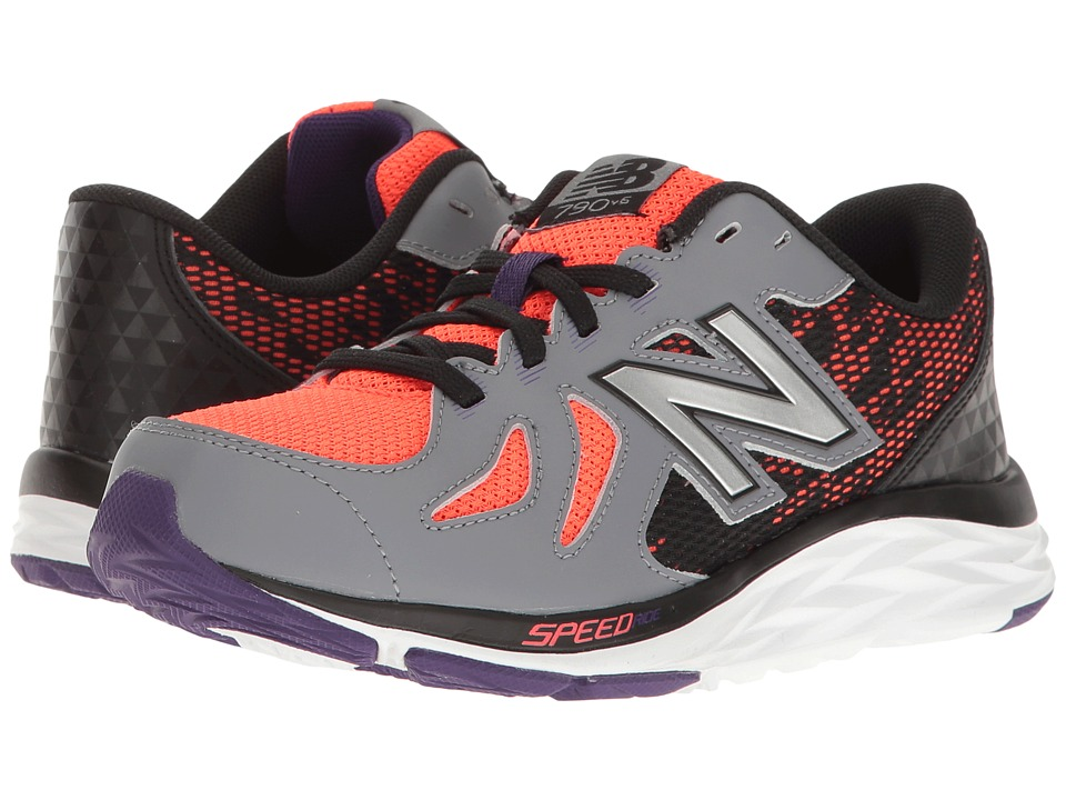New Balance Kids KJ790v6 (Little Kid/Big Kid) (Orange/Grey) Boys Shoes