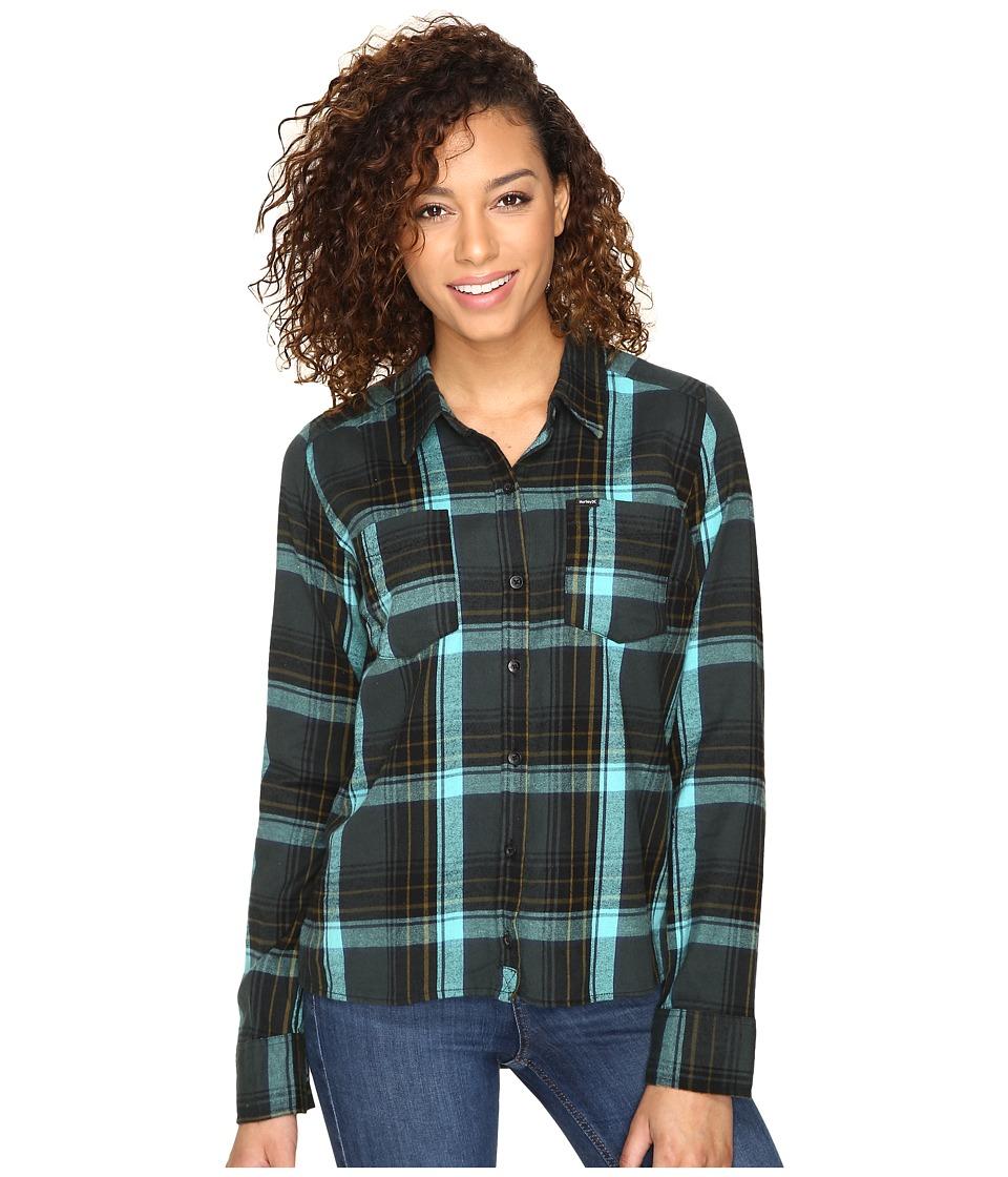 Hurley - Wilson Long Sleeve Top (Seaweed P) Women's Long Sleeve Button Up