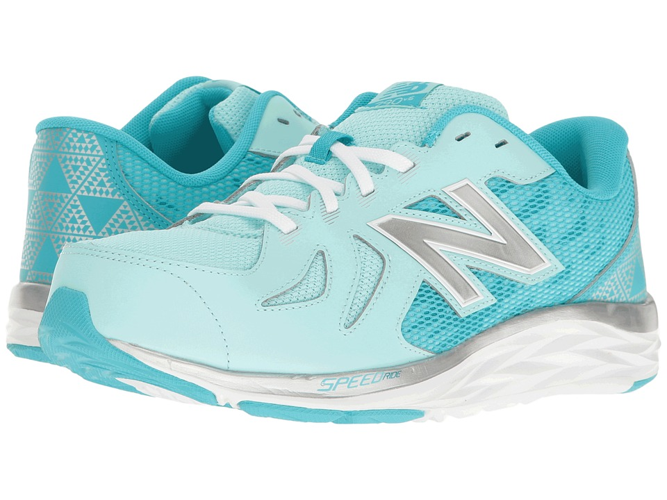 New Balance Kids - KJ790v6 (Little Kid/Big Kid) (Blue/Silver) Girls Shoes