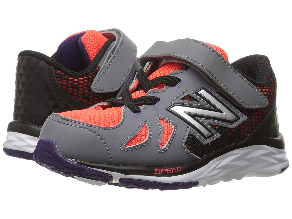 New Balance Kids KV790v6 (Infant/Toddler) (Orange/Grey) Boys Shoes