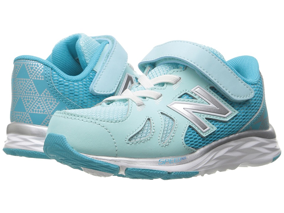 New Balance Kids KV790v6 (Infant/Toddler) (Blue/Silver) Girls Shoes