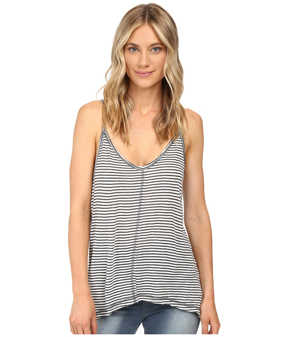 Billabong - Shiver Down Tank Top (Black/White) Women's Sleeveless