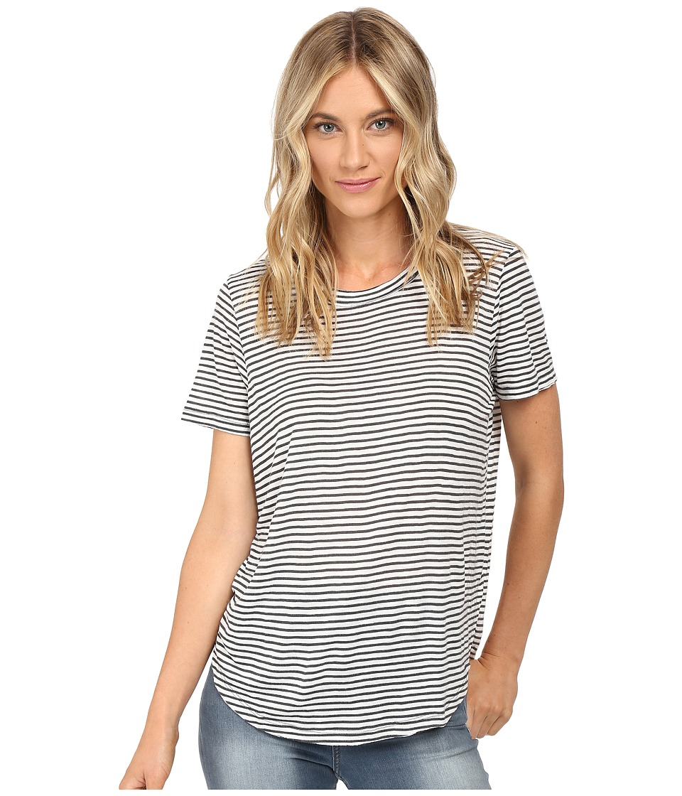 Billabong - Good Show Tee (Black/White) Women's Clothing