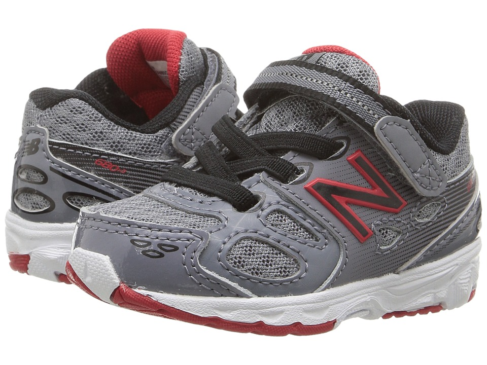 New Balance Kids KA680v3 (Infant/Toddler) (Grey/Black) Boys Shoes