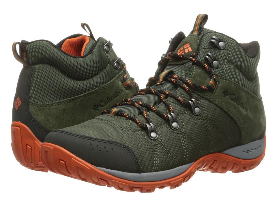 Columbia - Peakfreak Venture Mid LT (Surplus Green/Valencia) Men's Shoes