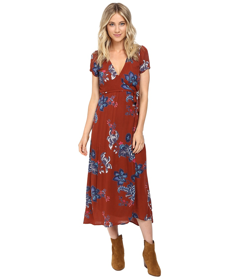 Billabong - Wrap Me Up Dress (Henna) Women's Dress