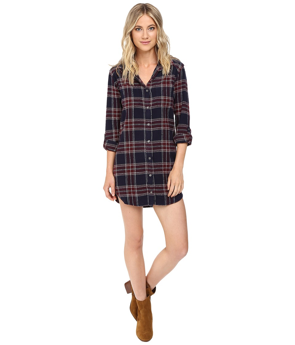 Billabong - Winters Tale Shirtdress (Peacoat) Women's Dress