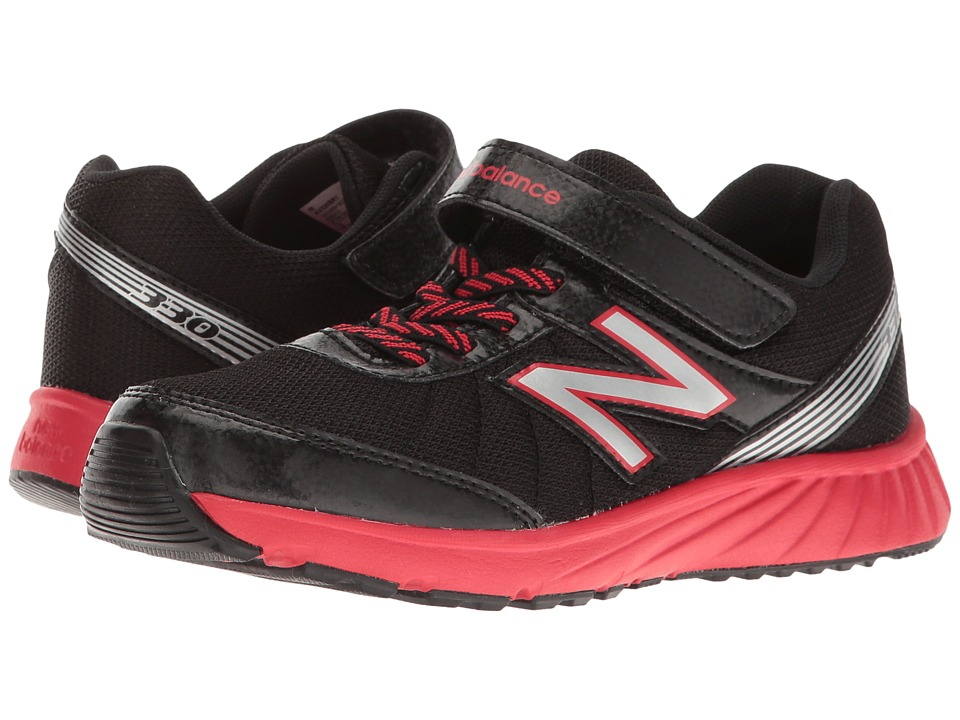 New Balance Kids KV330 (Little Kid/Big Kid) (Black/Red) Boys Shoes