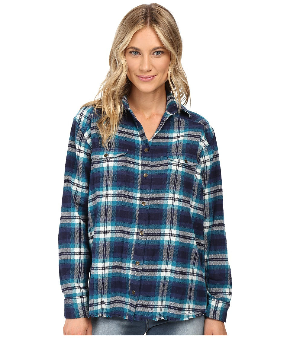 Billabong - Wild Adventure Top (Moroccan Blue) Women's Long Sleeve Button Up
