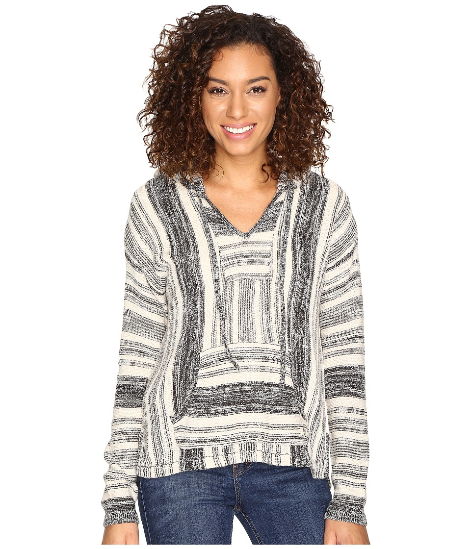 Billabong - Bonfire Beach Baja Sweater (Black/White) Women's Sweater