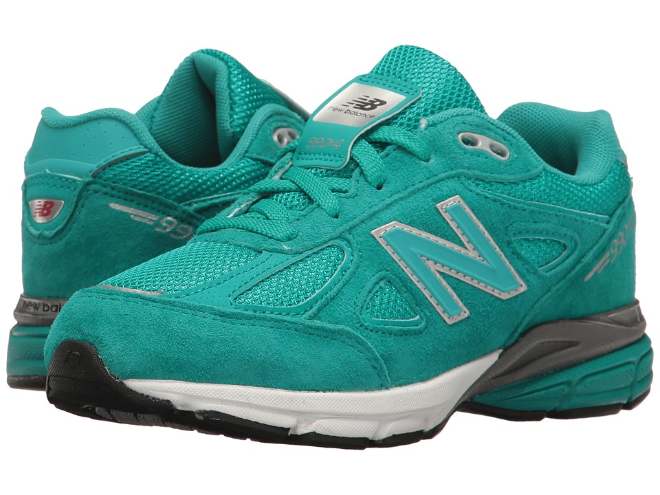 New Balance Kids - KJ990v4 (Little Kid) (Teal/Teal) Girls Shoes
