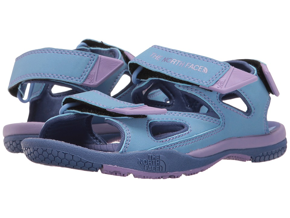 The North Face Kids - Jr Base Camp Coast Ridge (Toddler/Little Kid/Big Kid) (Coastal Fjord Blue/Paisley Purple) Girls Shoes