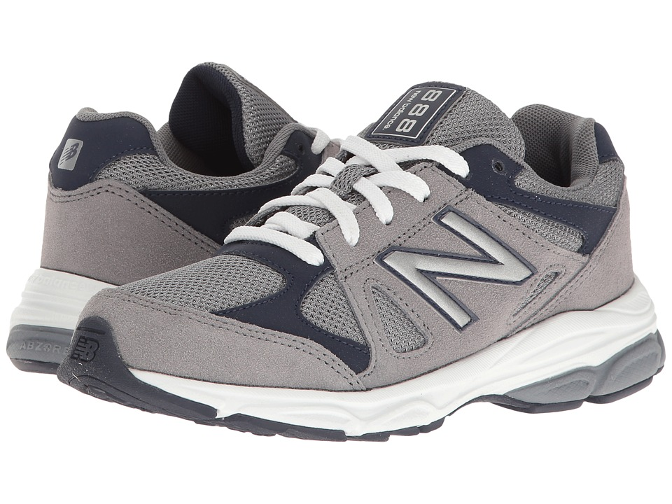 New Balance Kids KJ888v1 (Big Kid) (Grey/Navy) Boys Shoes