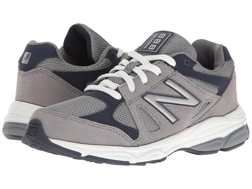 New Balance Kids - KJ888v1 (Big Kid) (Grey/Navy) Boys Shoes