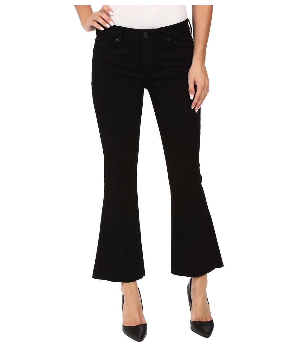 Hudson - Mia Mid-Rise Five-Pocket Crop Flare Jeans w/ Raw Hem (Black) Women's Jeans