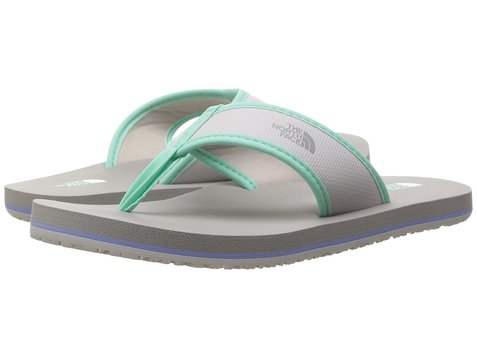 The North Face Kids Base Camp Flip-Flop (Toddler/Little Kid/Big Kid) (Wind Chime Grey/Ice Green) Girls Shoes