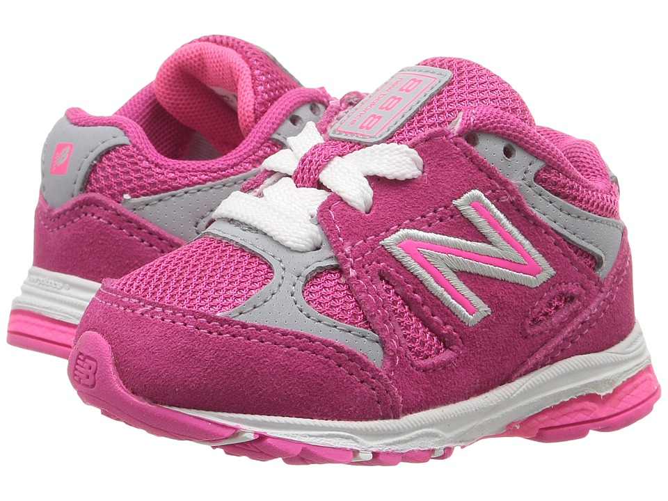 New Balance Kids - KJ888v1 (Big Kid) (Pink/Grey) Girls Shoes