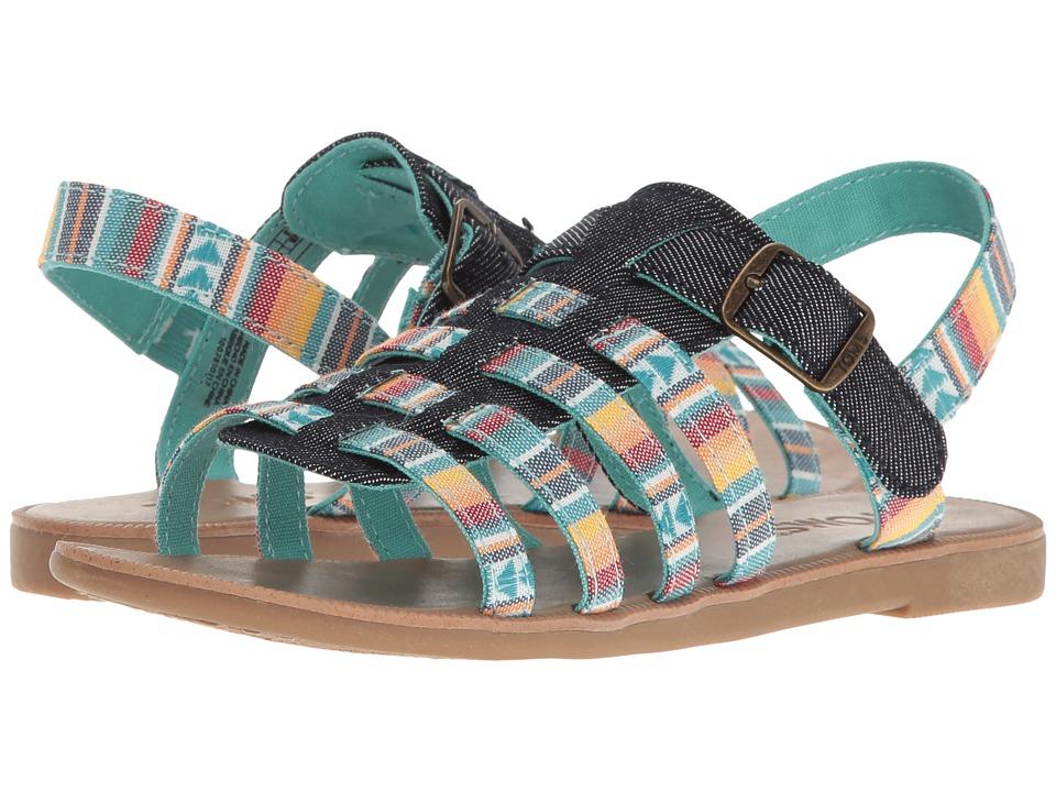 TOMS Kids - Huarache Sandals (Little Kid/Big Kid) (Multi Blanet Stripe) Girls Shoes