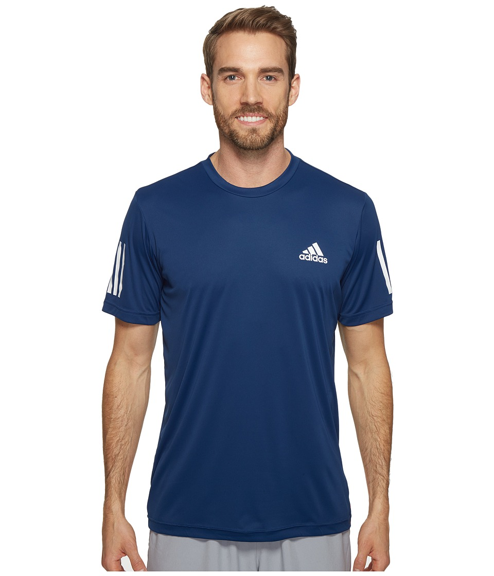 adidas - Club Tee (Mystery Blue/White/Glow Orange) Men's T Shirt
