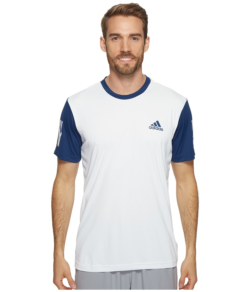 adidas - Club Tee (White/Mystery Blue/Glow Orange) Men's T Shirt