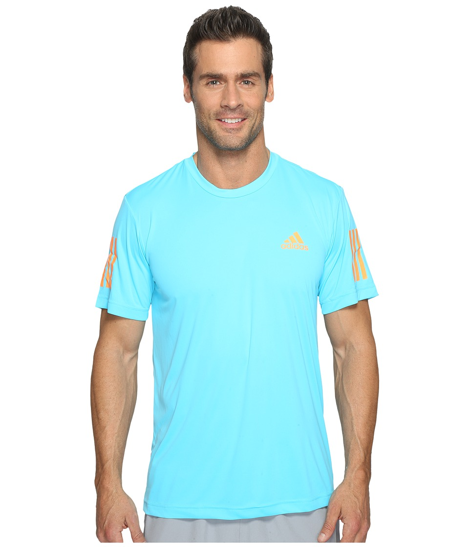 adidas - Club Tee (Samba Blue/Glow Orange/White) Men's T Shirt