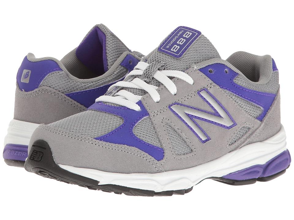 New Balance Kids - KJ888v1 (Little Kid) (Grey/Purple) Girls Shoes