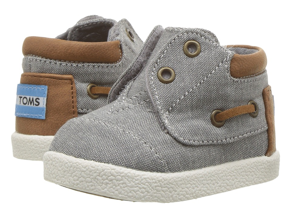TOMS Kids - Bimini High Sneaker (Infant/Toddler/Little Kid) (Frost Grey Chambray/PU) Boys Shoes