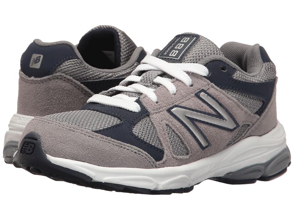 New Balance Kids KJ888v1 (Little Kid) (Grey/Navy) Boys Shoes