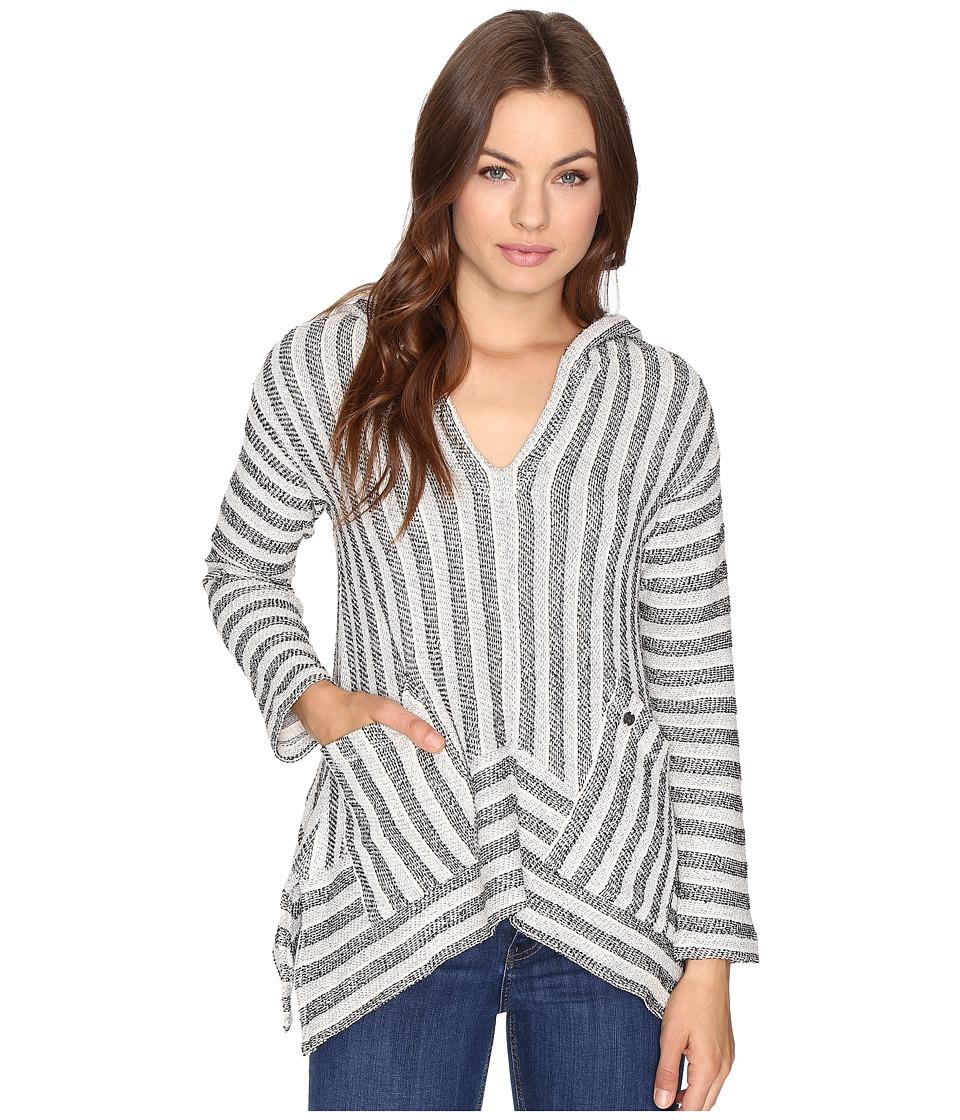 Billabong - Shadow Heart Hoodie (Black/White) Women's Sweatshirt