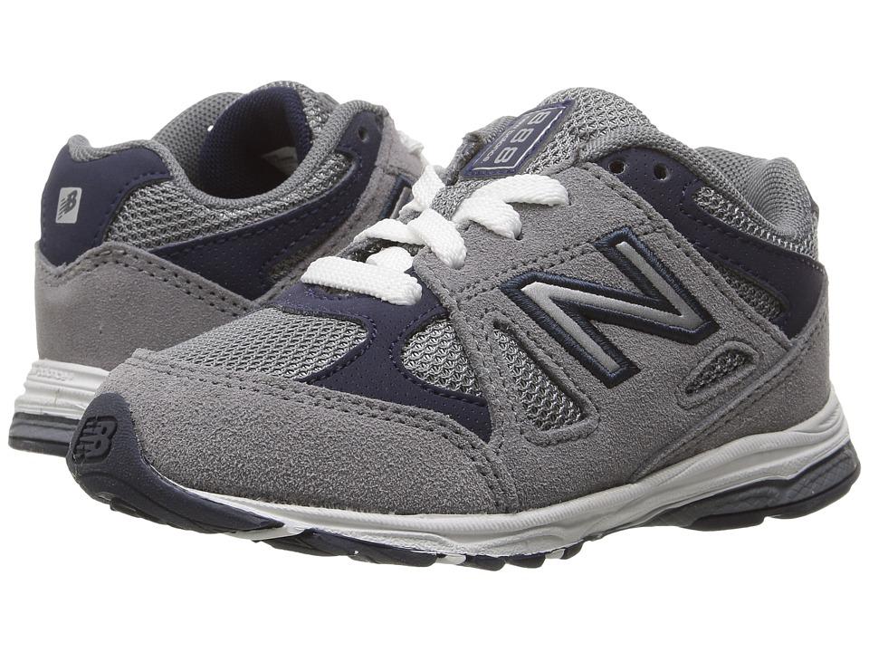 New Balance Kids KJ888v1 (Infant/Toddler) (Grey/Navy) Boys Shoes