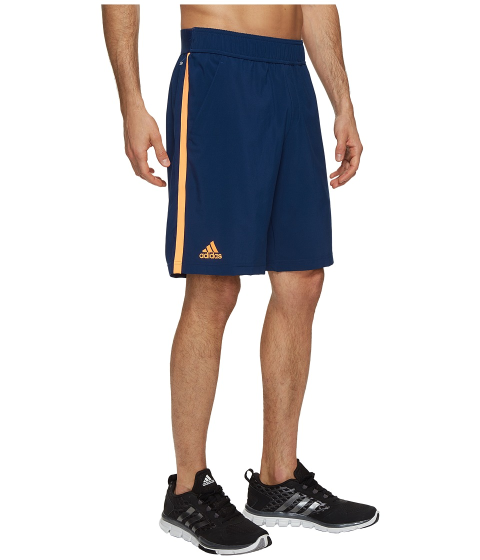 adidas - Essex Shorts (Mystery Blue/Glow Orange) Men's Shorts