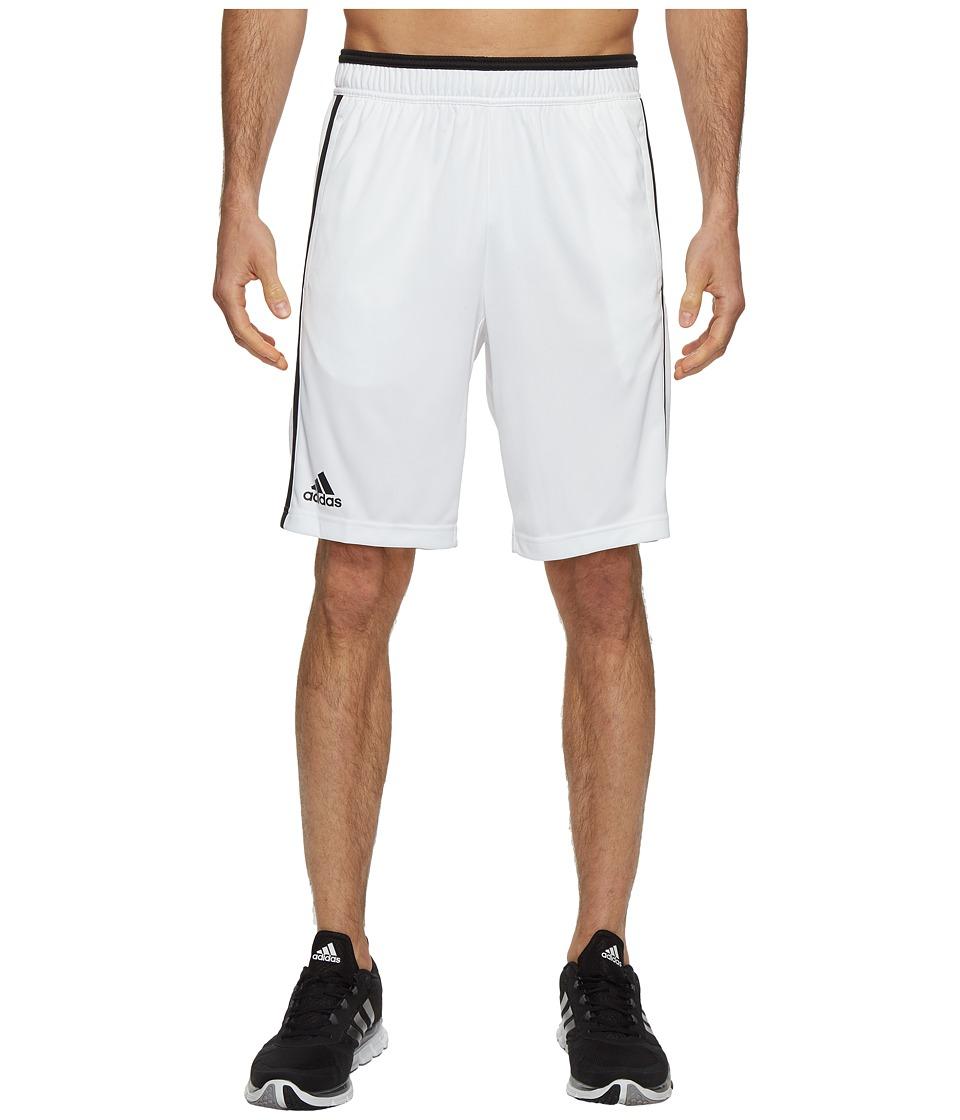 adidas - Essex Bermuda Shorts (White/Black) Men's Shorts