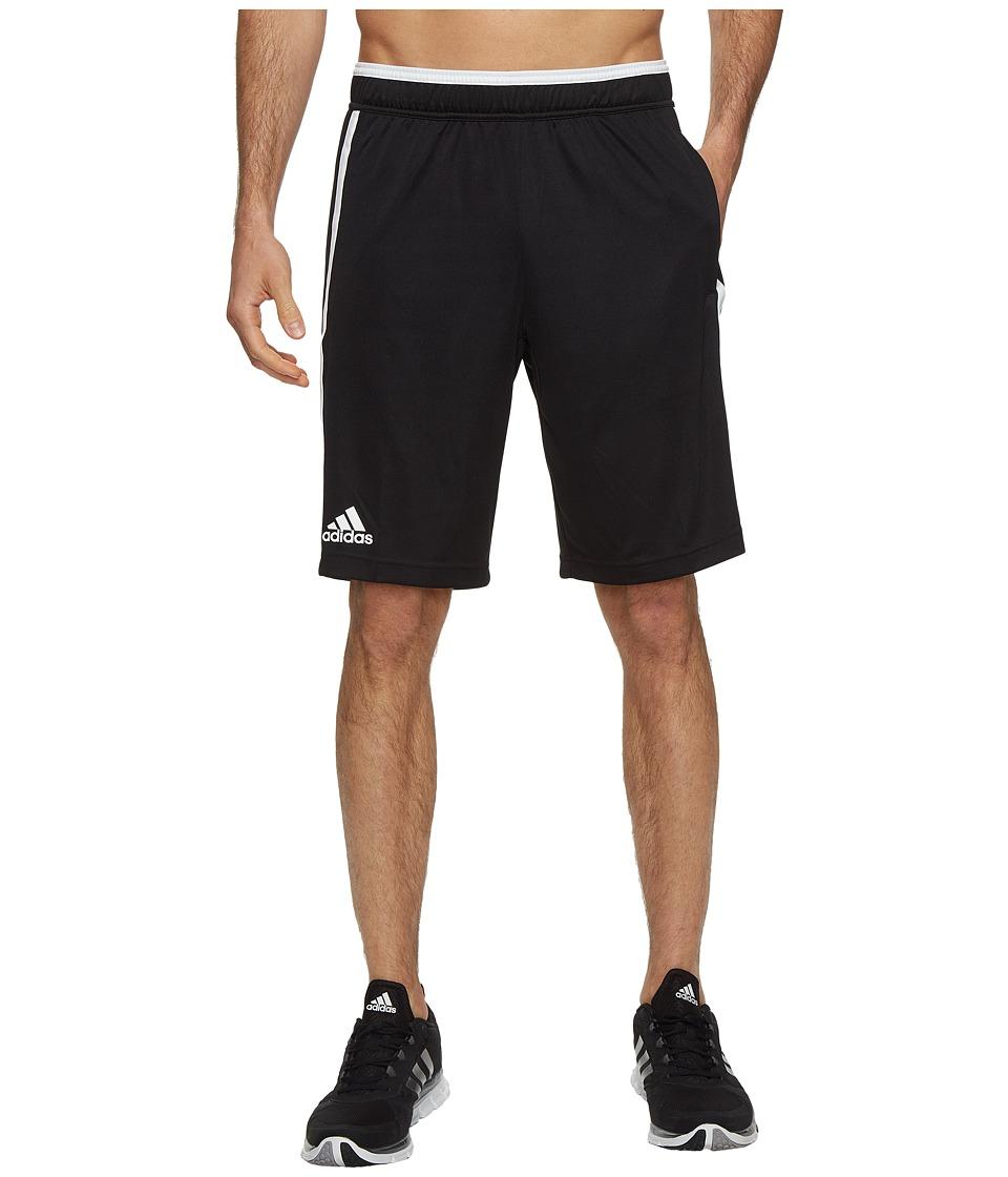 adidas - Essex Bermuda Shorts (Black/White) Men's Shorts